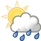 Weather-sun-clouds-rain